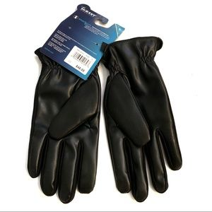 NWT Isotoner Black Touchscreen Gloves Large